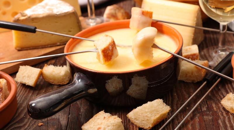 Selské sýrové fondue